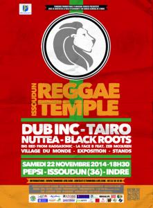 Flyer Issoudun Reggae Temple